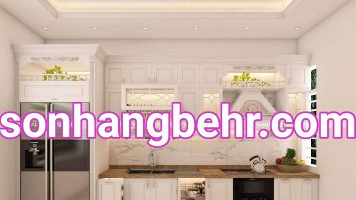cách phối màu cho phòng bếp