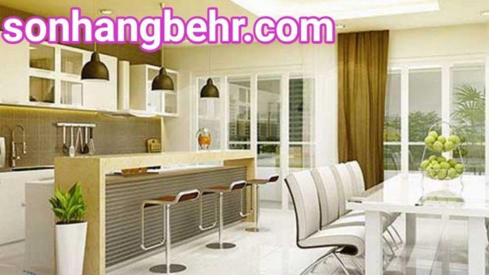 màu sơn nhà bếp đẹp