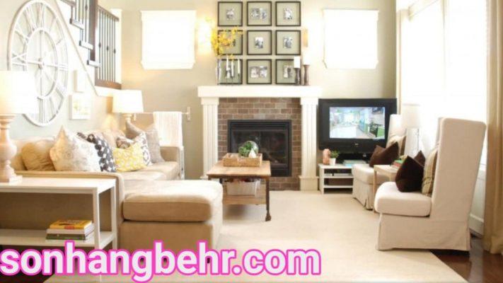 màu sơn phòng khách theo phong thủy